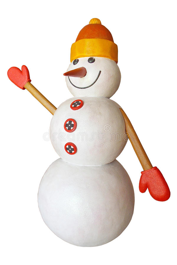 Rolig snowman fotografering för bildbyråer