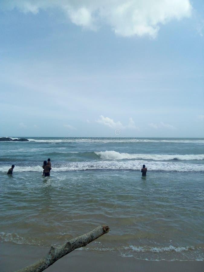 Rolig strand royaltyfri foto