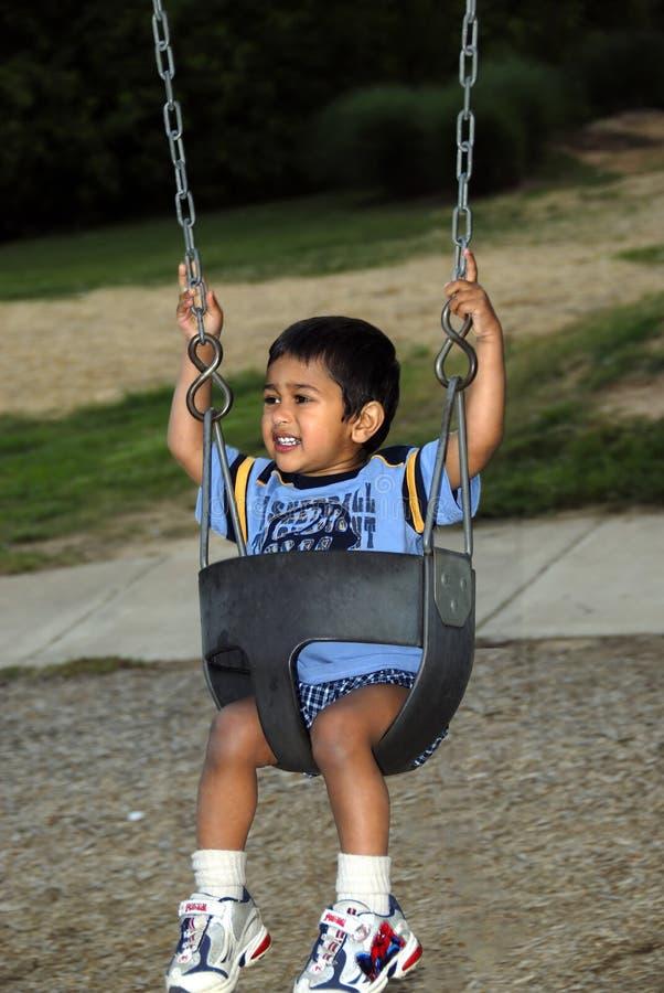 rolig swing royaltyfri foto