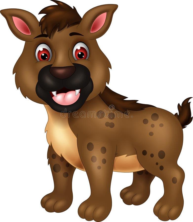 Rolig tecknad film för brun hyena stock illustrationer