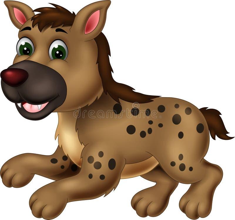 Rolig tecknad film för brun hyena vektor illustrationer