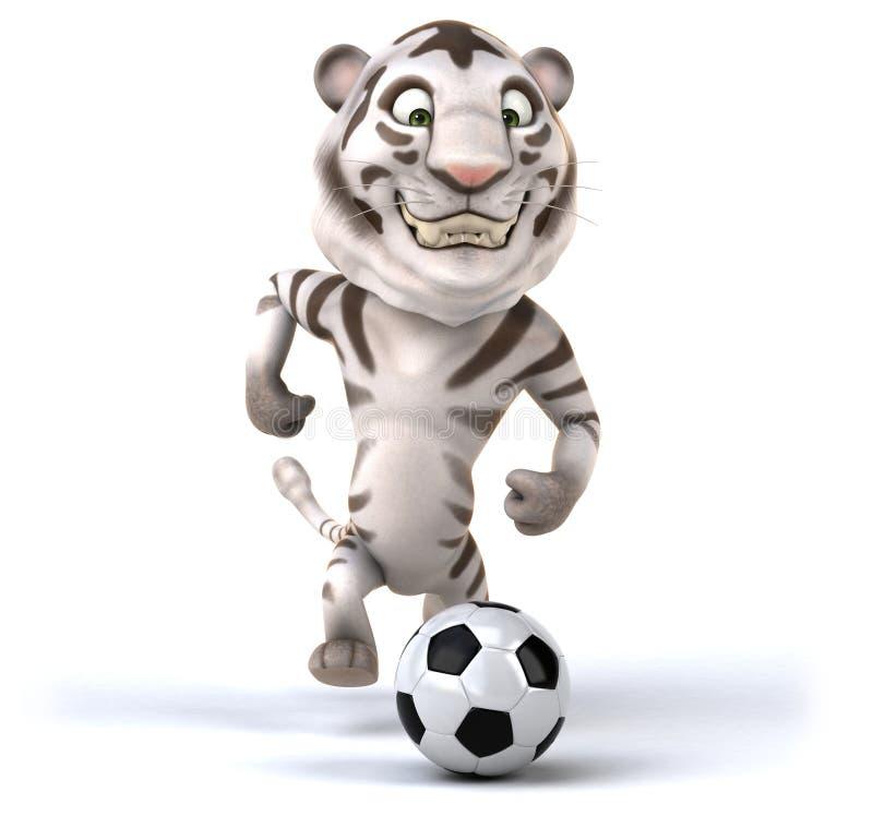 Rolig tiger vektor illustrationer