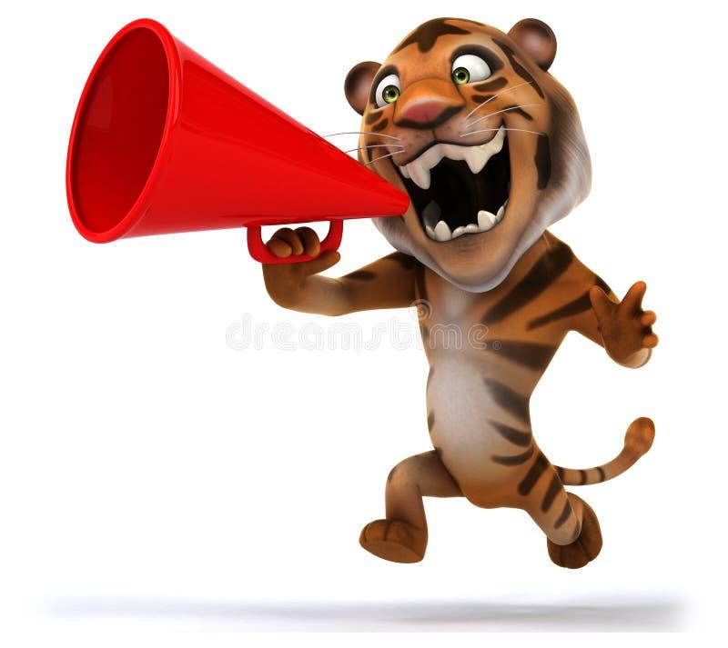 Rolig tiger stock illustrationer