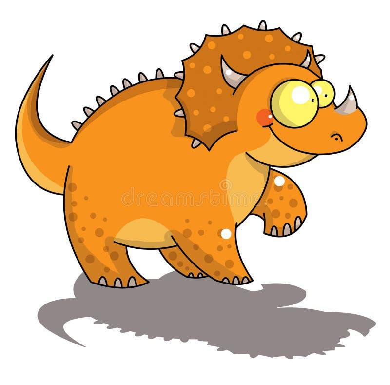 rolig triceratops stock illustrationer