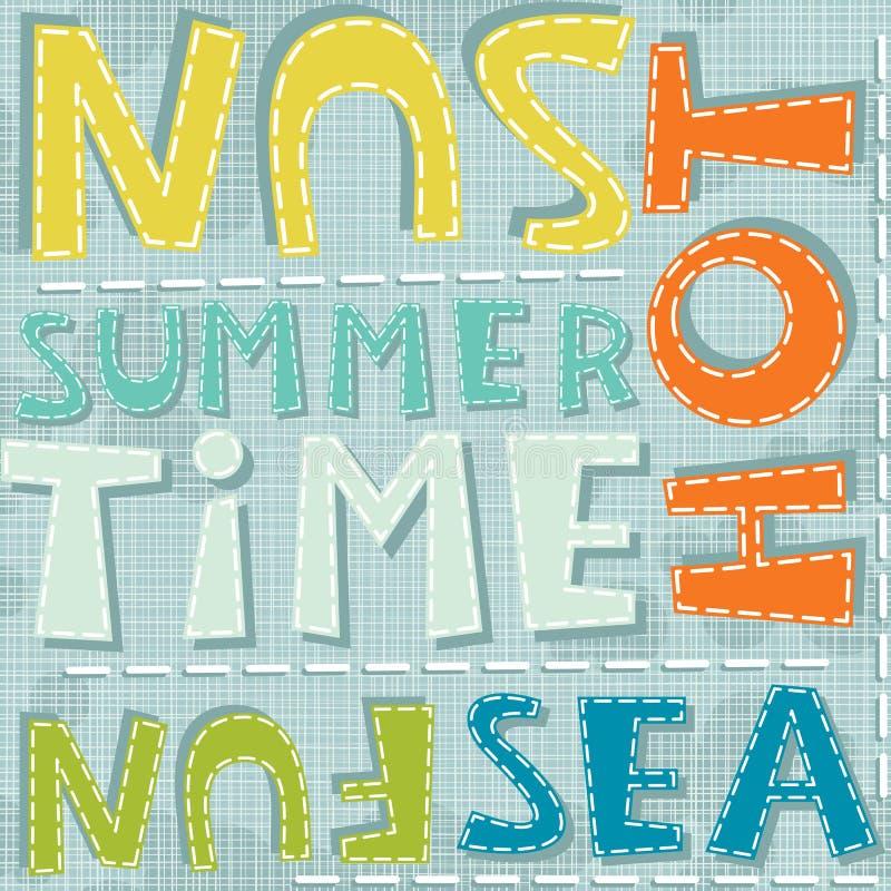 Rolig varm färgrik modell för sommartidhav royaltyfri illustrationer