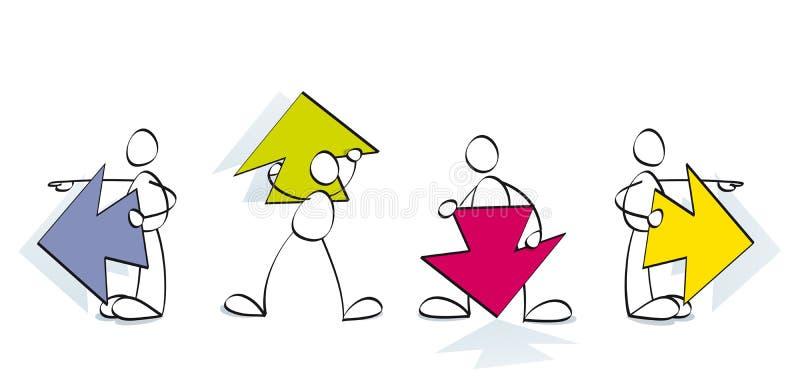 rolig website för pilar stock illustrationer