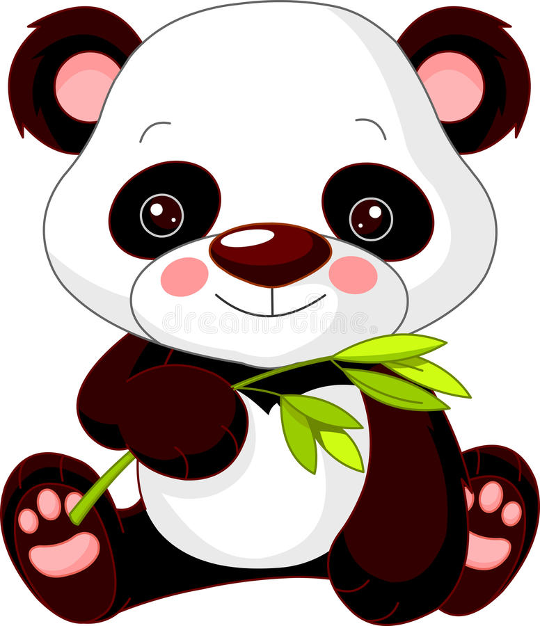 Rolig zoo. Panda royaltyfri illustrationer