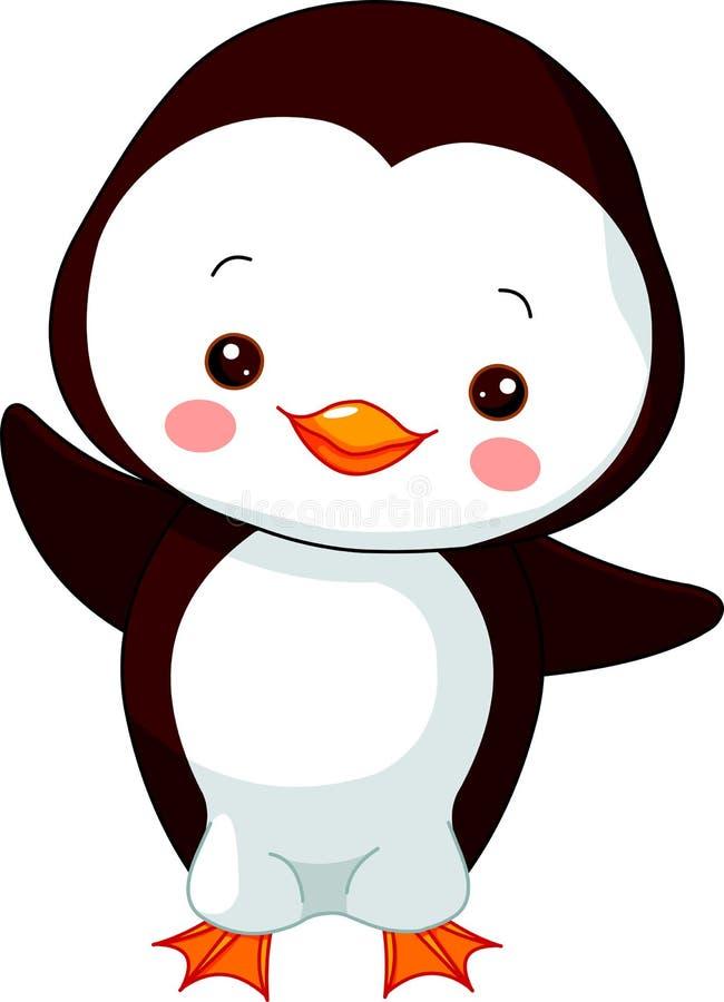 Rolig zoo. Pingvin vektor illustrationer