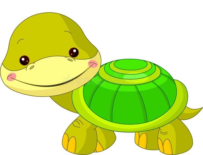 Rolig zoo. Sköldpadda royaltyfri illustrationer