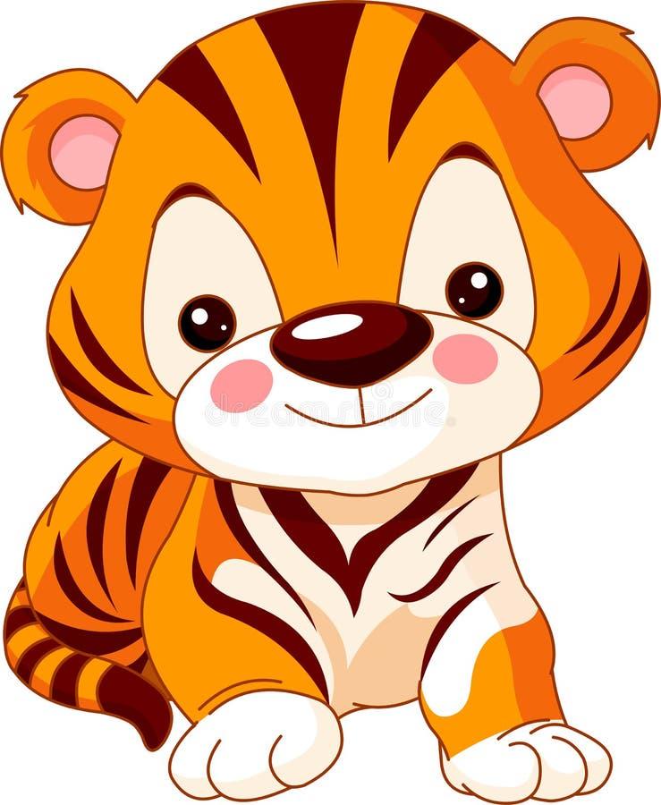 Rolig zoo. Tiger vektor illustrationer