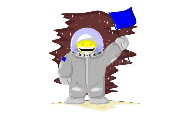 Roliga astronaut royaltyfri illustrationer