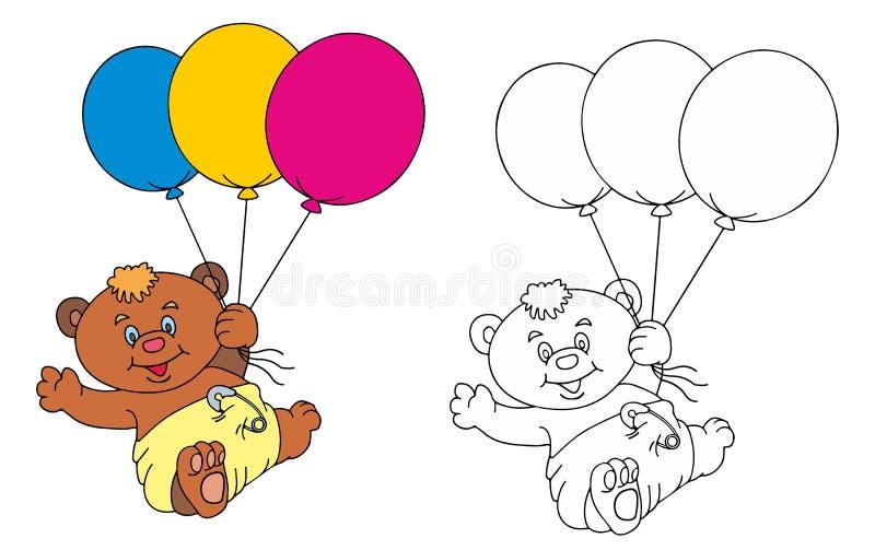 roliga ballongbjörnar vektor illustrationer