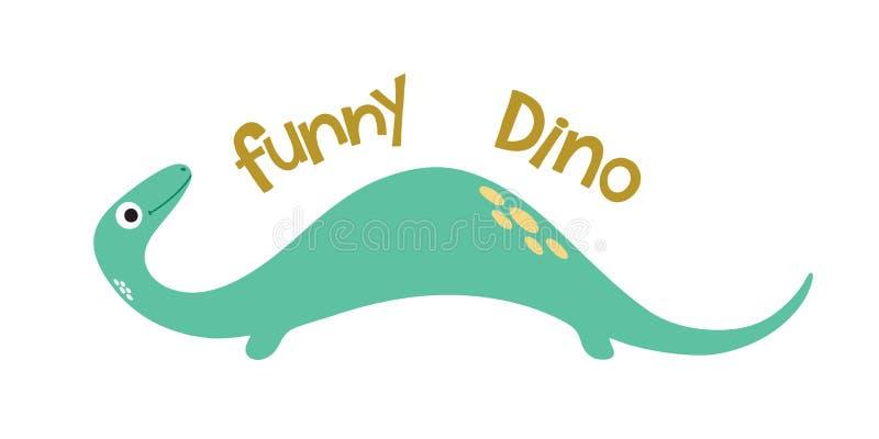 Roliga dino gullig dinosaur stock illustrationer