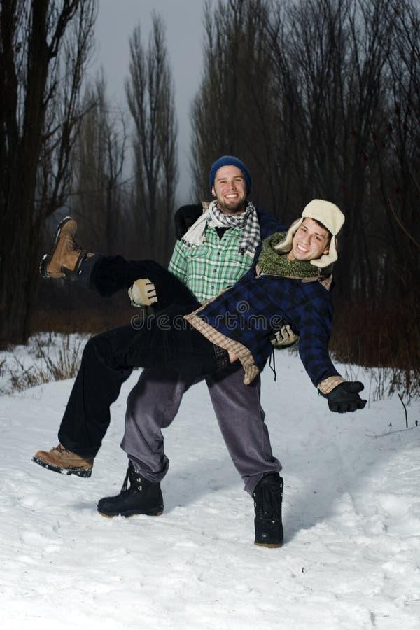 roliga grabbar för skog som har två royaltyfri foto
