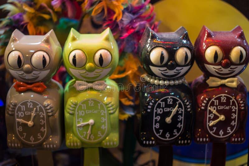 Roliga klockor av katter royaltyfri fotografi