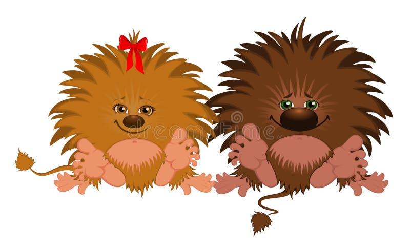 roliga lilla monster stock illustrationer