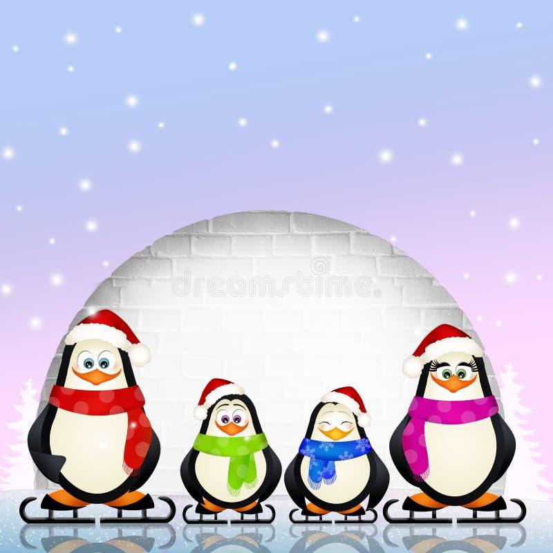 roliga pingvin vektor illustrationer