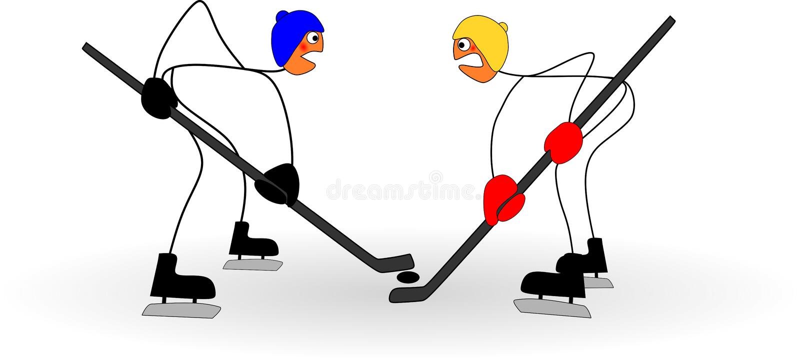 Roliga pinnediagram lekhockey på den olympic vintern spelar vektor illustrationer