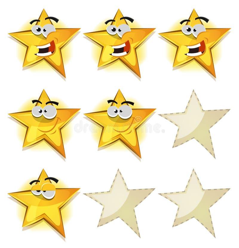 Roliga stjärnasymboler för Ui den modiga ställningen stock illustrationer