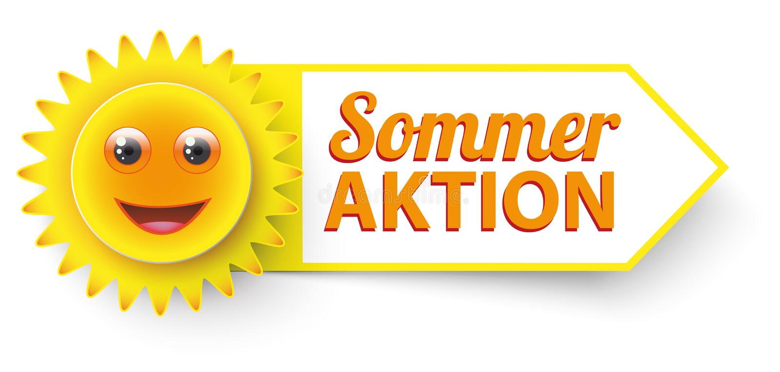 Roliga Sun Sommer Aktion vektor illustrationer