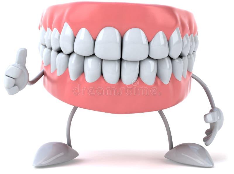 roliga tänder royaltyfri illustrationer