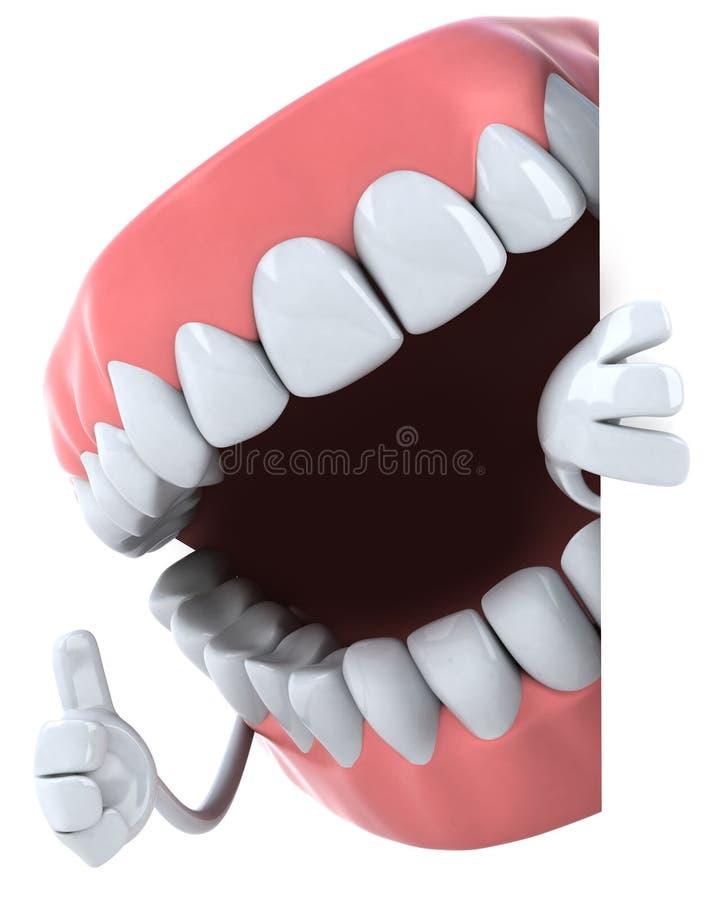 roliga tänder stock illustrationer
