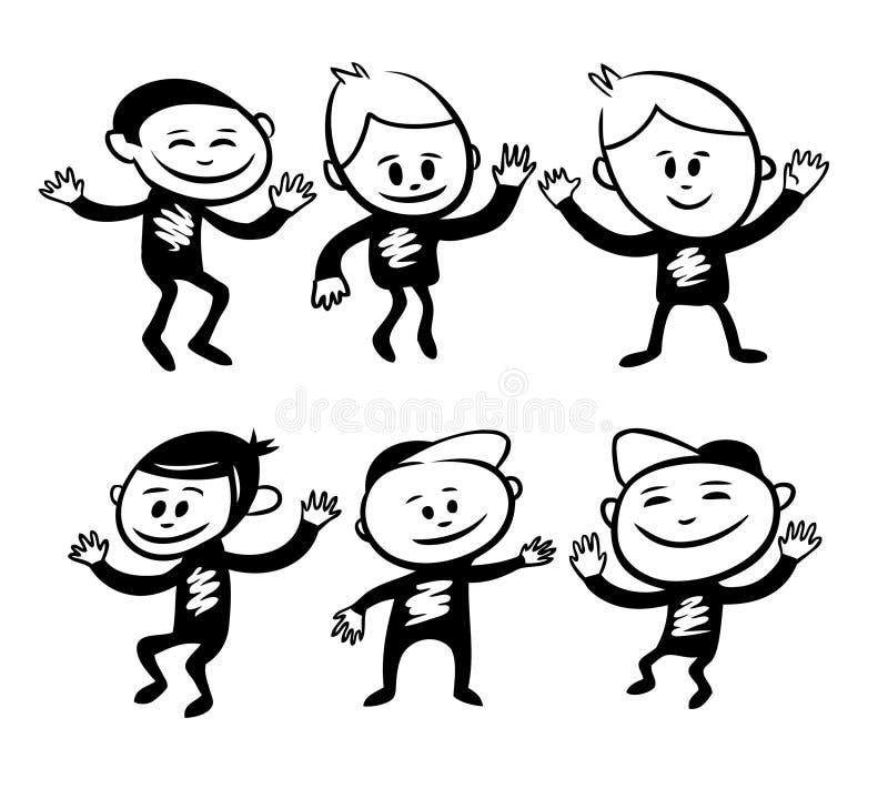 roliga tecken stock illustrationer