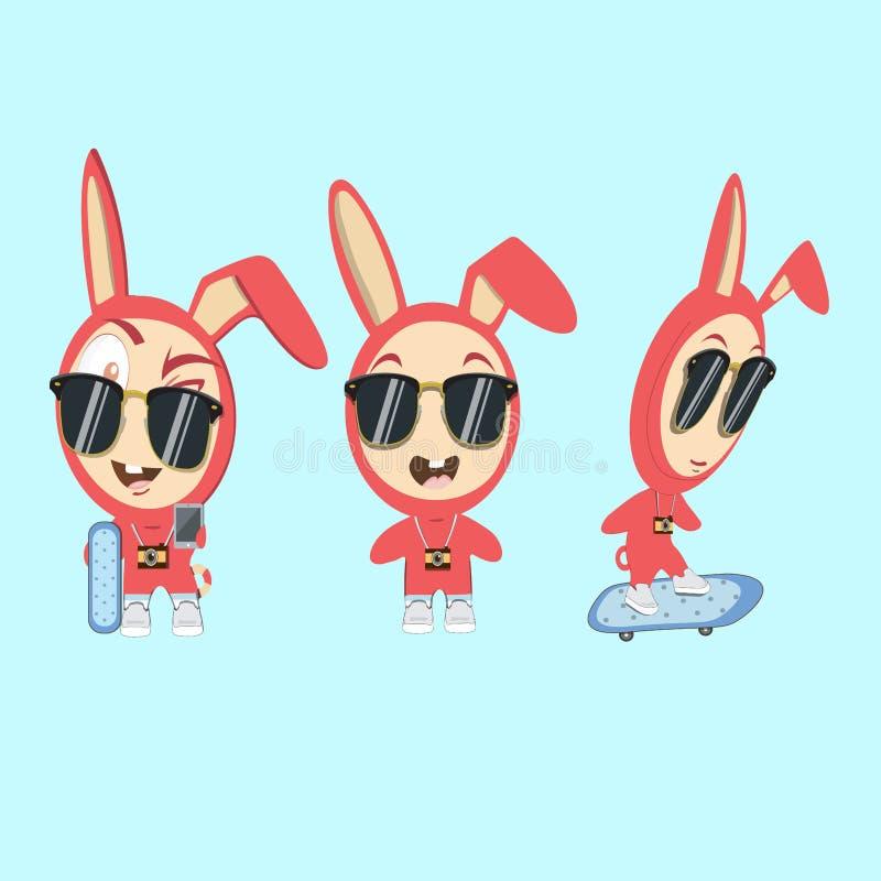 Roliga tecken för kanin royaltyfria bilder