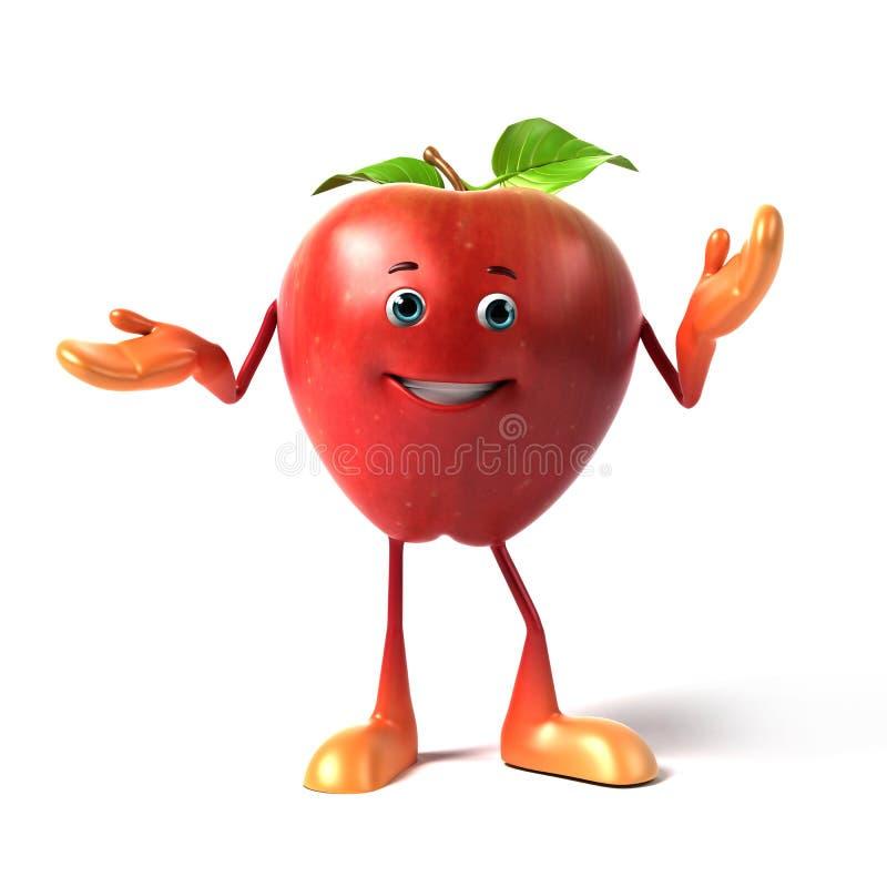 roligt äpple royaltyfri illustrationer