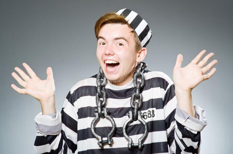 Roligt fängelseintagen fotografering för bildbyråer