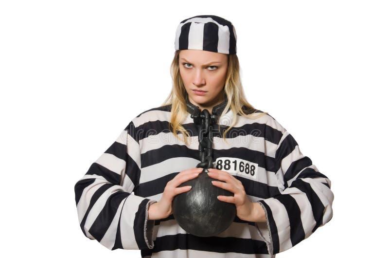 Roligt fängelseintagen arkivbilder