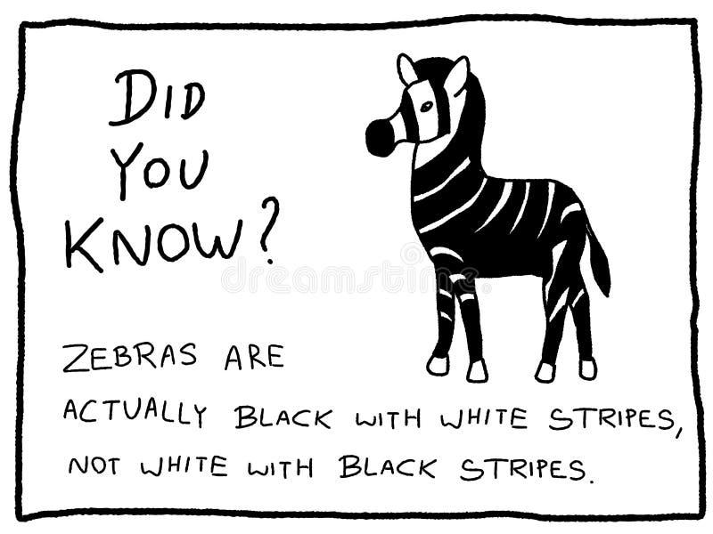Roligt faktum stock illustrationer