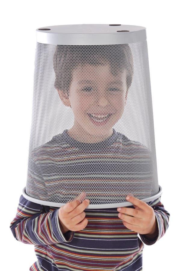 roligt head avfall för barn arkivbilder