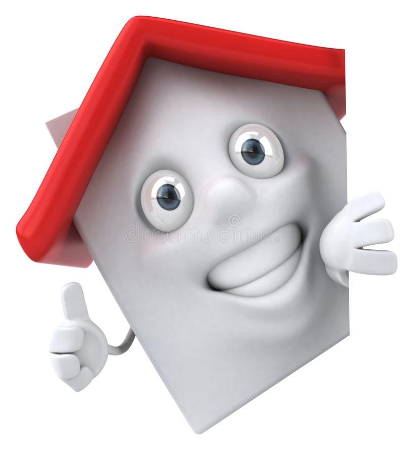 roligt hus stock illustrationer