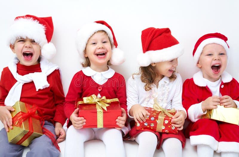 roligt julföretag arkivbild