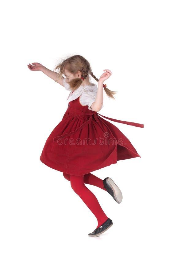 roligt köra för flickapigtails royaltyfri fotografi