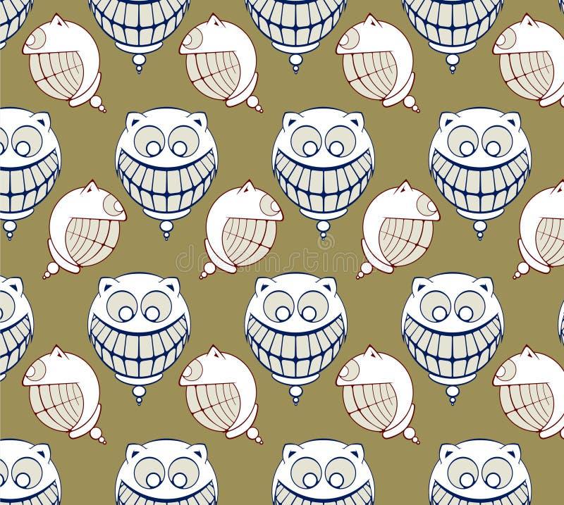 roligt leende för tecknad filmframsida vektor illustrationer