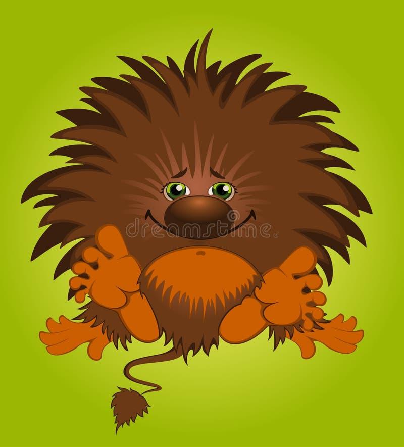 roligt litet monster royaltyfri illustrationer