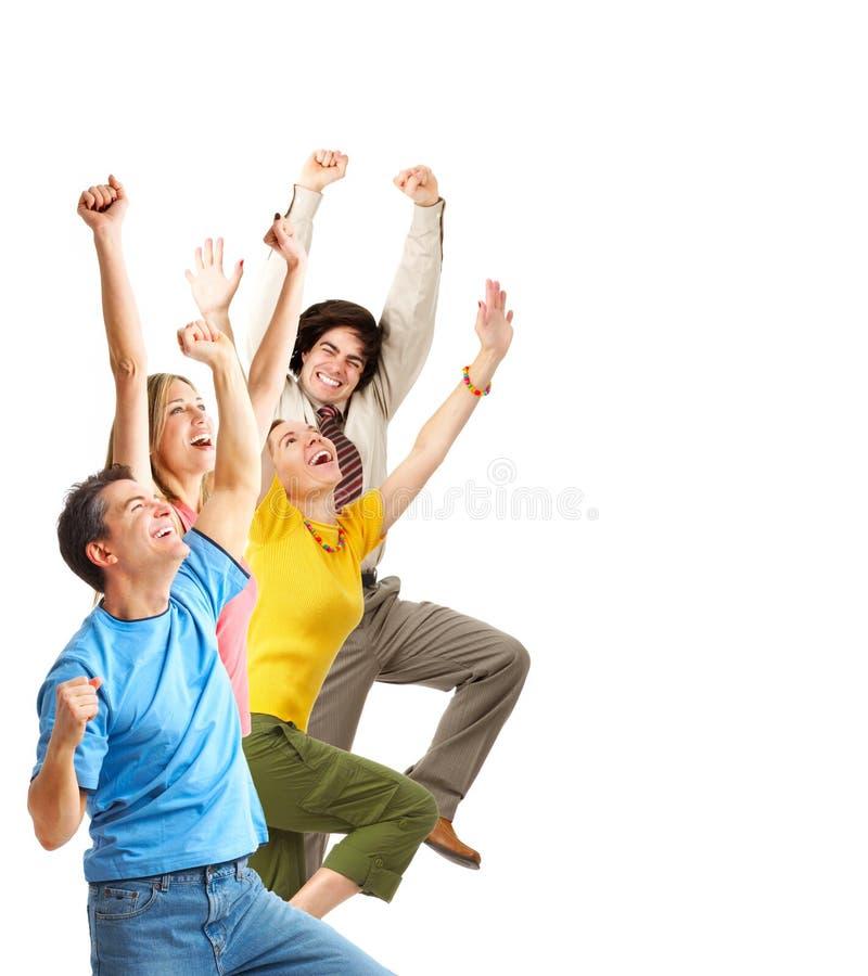roligt lyckligt folk arkivbild