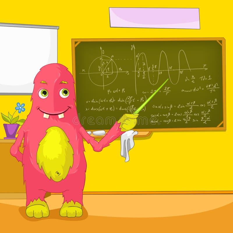 Roligt monster. vektor illustrationer