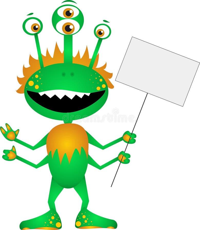 roligt monster stock illustrationer