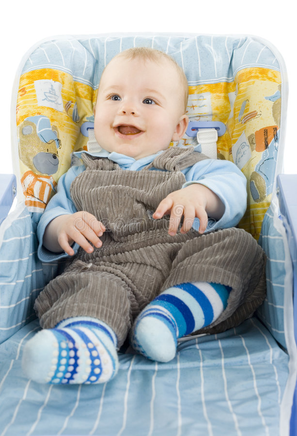 roligt spädbarn royaltyfria bilder