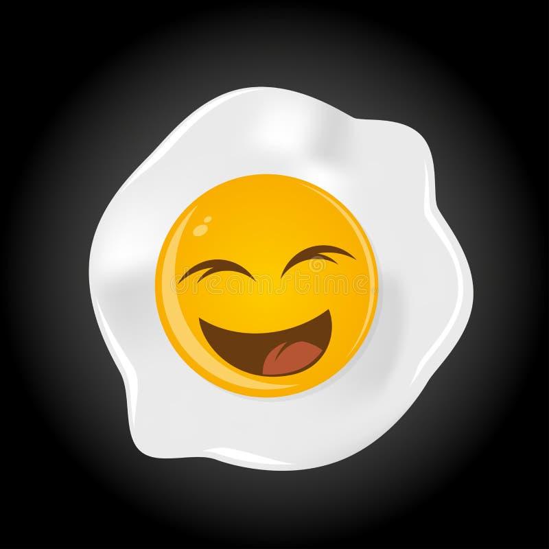 Roligt stekt ägg vektor illustrationer