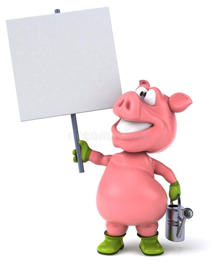 Roligt svin vektor illustrationer
