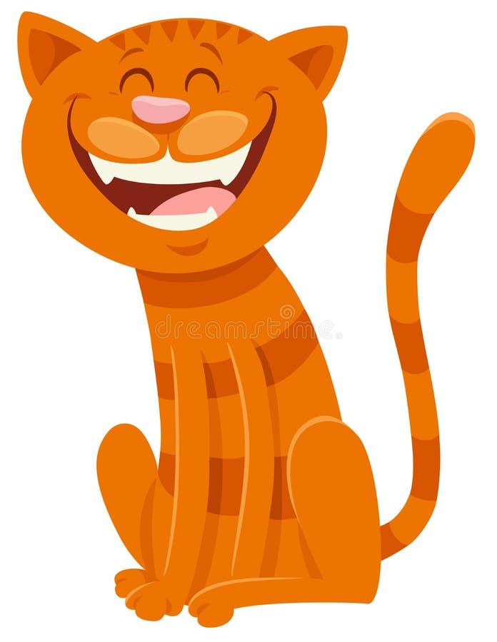 Roligt tecken för katttecknad filmdjur stock illustrationer