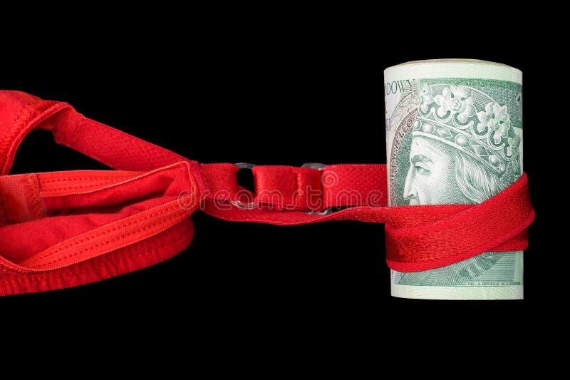 Rolka banknoty od ćwiczy nierządu obraz royalty free