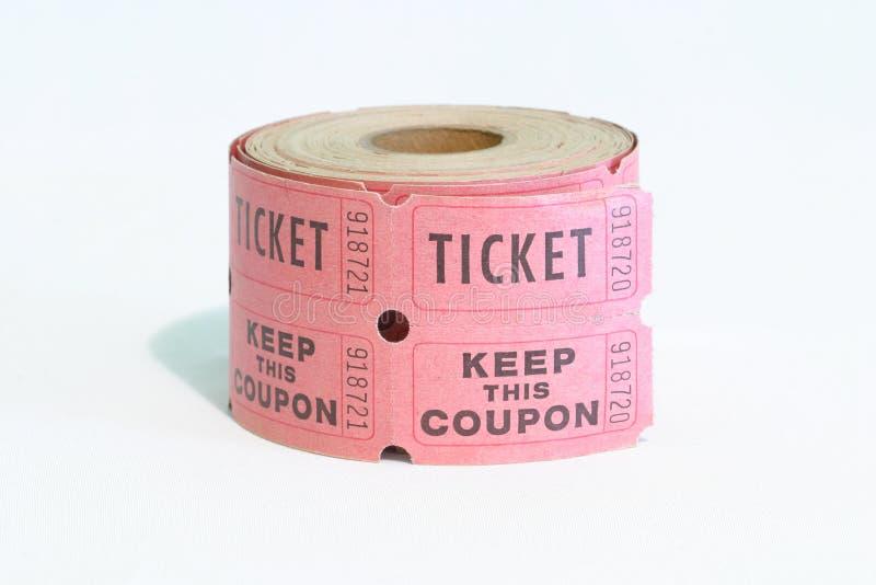 rolka bilety zdjęcia stock