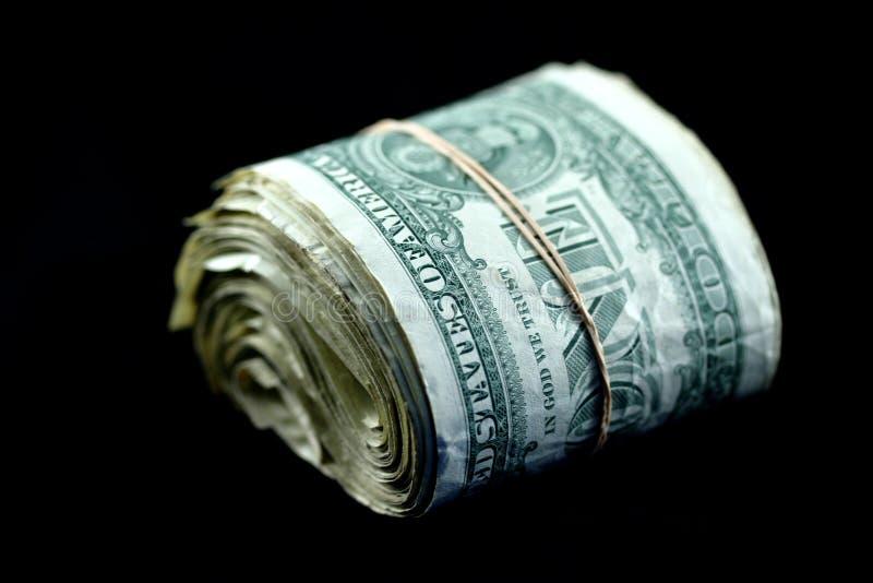 rolka dolarów. obraz stock