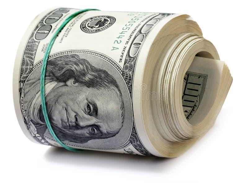 rolka dolarów. obrazy stock