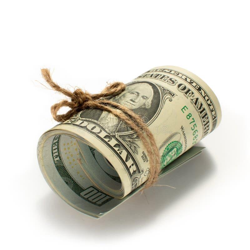 rolka dolary wiążący z arkaną obraz stock